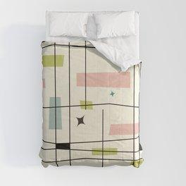 Mid Century Art Bauhaus Style Pastel Comforters
