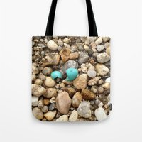 egg Tote Bags featuring Egg by Mylittleradical