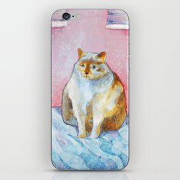 Polite Chunky Cat iPhone Skin