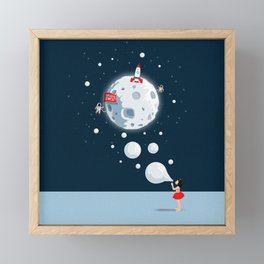 Reach For The Moon Framed Mini Art Print