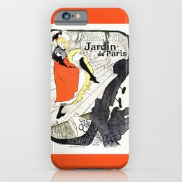 Jane Avril French can-can Jardin de Paris iPhone Case