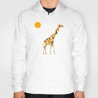 giraffe Hoodies featuring Giraffe  by fly fly away