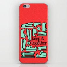 keep it together iPhone & iPod Skin
