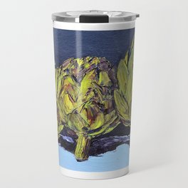 three artichokes Travel Mug