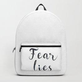 Fear lies Backpack