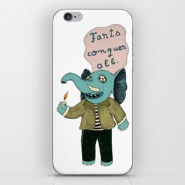 Farts Conquer All iPhone Skin
