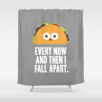 taco Shower Curtains featuring Taco Eclipse of the Heart by David Olenick