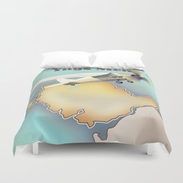 Anglesey Vintage style travel poster. Duvet Cover