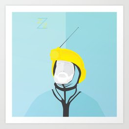 Zissou - The Life Aquatic Art Print