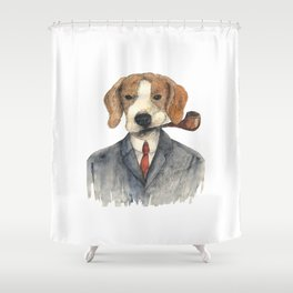 Monsieur Beagle Shower Curtain