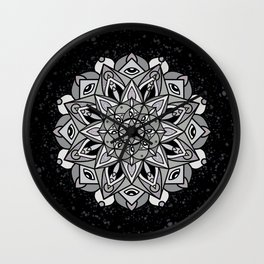 Dark Mandala Wall Clock