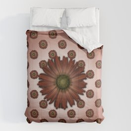 """""""Big Red Daisy, (pattern)"""" Comforters"""