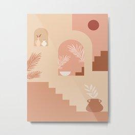 Desert Patio Metal Print