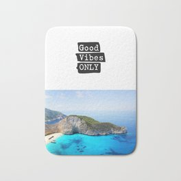Good vibes only island vers Bath Mat