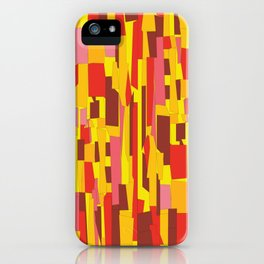 Retro Crackle Glass Pattern in Fiery Colors iPhone Case