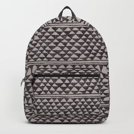 triangles all over in dark grays Backpack