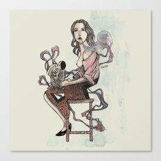 Zebra Girl Canvas Print