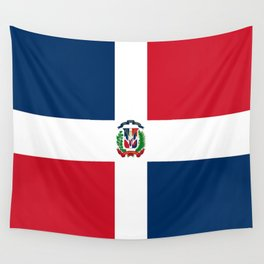 Flag of the dominican republic Wall Tapestry