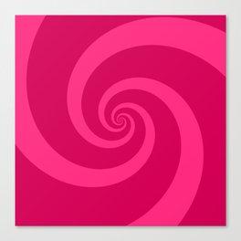pink vortex Canvas Print