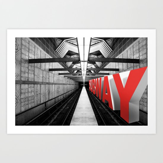 LA subway Art Print