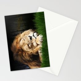 Sleeping Lion Stationery Cards
