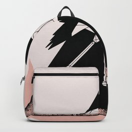 Flamingo in straight lines Backpack