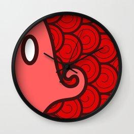Niji Sakana (Red) Wall Clock