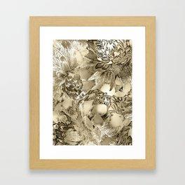 Proud Dahlias 3 Framed Art Print
