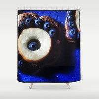 breakfast Shower Curtains featuring Breakfast by MaryBagwellJohnson