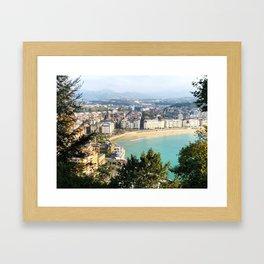 La Concha de San Sebastián Framed Art Print