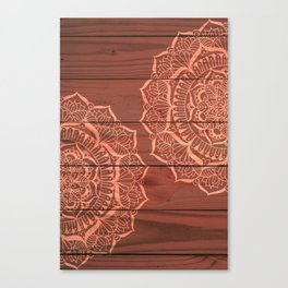 Wood Panel Mandalas Canvas Print