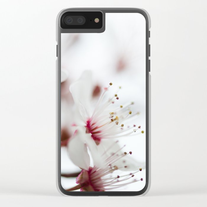 Plum Tree Clear iPhone Case