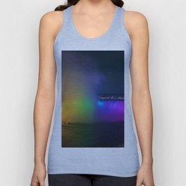 Rainbow Niagara Falls Waterfall (Color) Unisex Tank Top