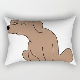 Suspicious dog Rectangular Pillow