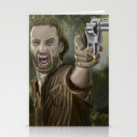 rick grimes Stationery Cards featuring Rick Grimes by Paulo Fodra