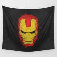 illuminati Wall Tapestries featuring Iron Man splash by Sitchko Igor