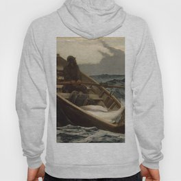 The Fog Warning / Halibut Fishing by Winslow Homer Hoody