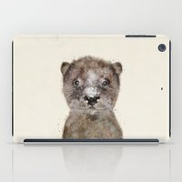 otters iPad Cases featuring little otter by bri.buckley