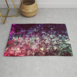 Grunge Concert Festival Background as Colorful Abstract Rug