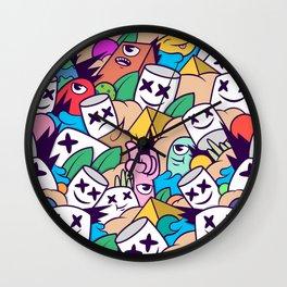 marsmello doodle Wall Clock