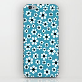 Dizzy Daisies - teal - more colors iPhone Skin