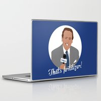 scully Laptop & iPad Skins featuring Vin Scully by Eric J. Lugo