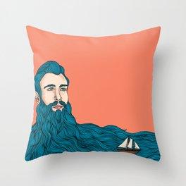 Él y el mar Throw Pillow