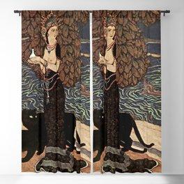 """Circe the Enchantress"" by Edmund Dulac Blackout Curtain"
