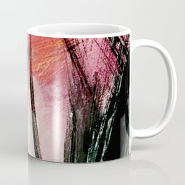 Train of thought: a vibrant abstract mixed media piece Coffee Mug