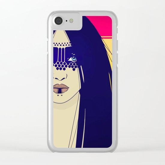 Tribal Lady Clear iPhone Case