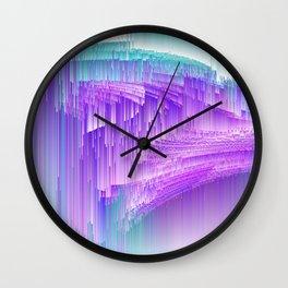 Flame - Pixel sort purple Wall Clock