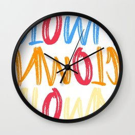Clown Circus Gift Artists Juggler Manege Cool Wall Clock