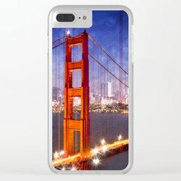 City Art Golden Gate Bridge Composing Clear iPhone Case