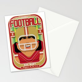 American Football Red and Gold - Hail-Mary Blitzsacker - Indie version Stationery Cards
